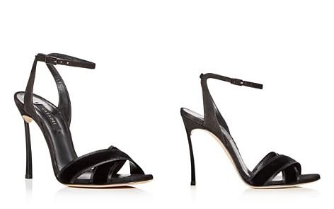 113157df269 Casadei Women s Yoko Velvet   Suede High-Heel Sandals - Bloomingdale s 2
