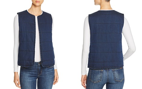 Eileen Fisher Quilted Denim Vest - Bloomingdale's_2