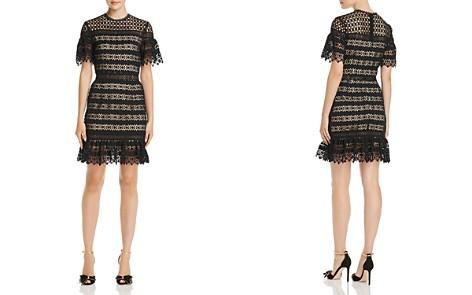 AQUA Geometric Lace Illusion Dress - 100% Exclusive - Bloomingdale's_2
