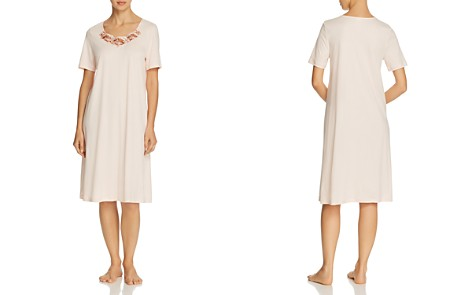 Hanro Jana Embroidered Short Sleeve Cotton Short Gown - Bloomingdale's_2