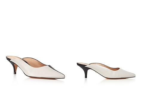 SCHUTZ Women's Keilla Pointed Toe Leather Kitten Heel Mules - Bloomingdale's_2