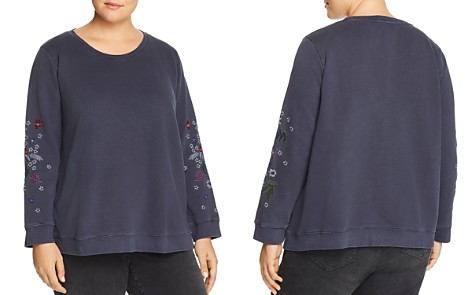 Lucky Brand Plus Embroidered Floral Sweatshirt - Bloomingdale's_2