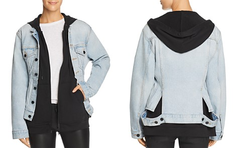 T by Alexander Wang Joint Mix Jacket in Bleach - Bloomingdale's_2