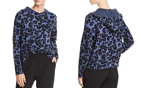 AQUA Leopard Print Hooded Sweater - 100% Exclusive - Bloomingdale's_2