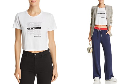Knowlita NY Thank You Cropped Tee - Bloomingdale's_2