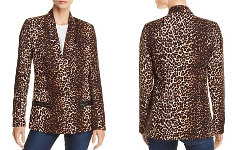 PAIGE Karissa Double-Breasted Leopard Print Blazer - Bloomingdale's_2
