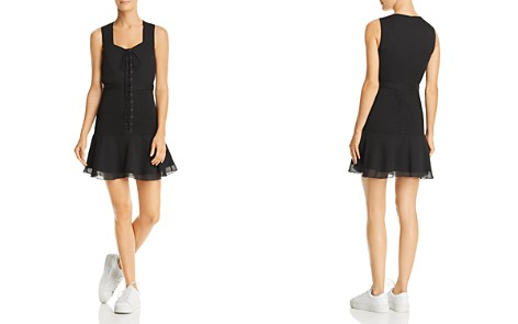 The East Order Nina Smocked Lace-Up Mini Dress - Bloomingdale's_2