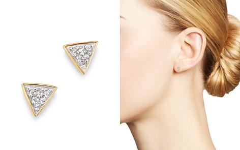 Adina Reyter 14K Yellow Gold Pavé Diamond Super Tiny Triangle Stud Earrings - Bloomingdale's_2