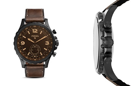 Fossil Q Nate Brown Hybrid Smartwatch, 50mm - Bloomingdale's_2