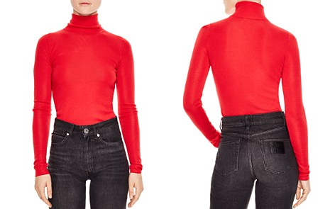 Sandro Calico Fitted Turtleneck Sweater - Bloomingdale's_2