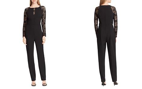 Lauren Ralph Lauren Jersey Lace-Sleeve Jumpsuit - Bloomingdale's_2