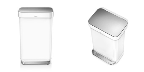 simplehuman 45-Liter Rectangular Step Trash Can with Liner Pocket - Bloomingdale's_2