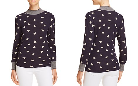 Rebecca Taylor Scattered Heart Jacquard Sweater - Bloomingdale's_2
