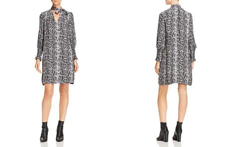 Rebecca Taylor Tie-Neck Snake-Print Silk Shift Dress - Bloomingdale's_2