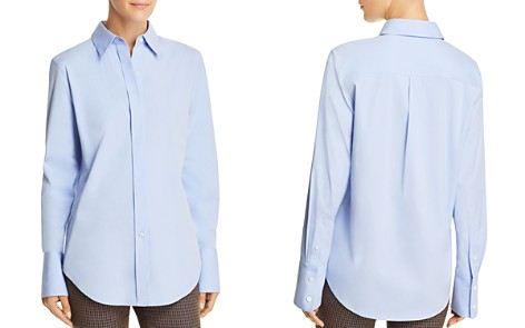 Theory Essential Button-Front Shirt - Bloomingdale's_2