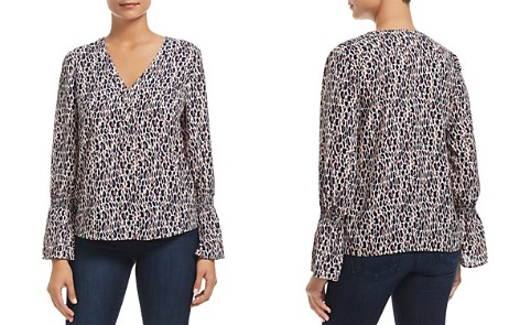 Finn & Grace Smocked Leopard Print Top - 100% Exclusive - Bloomingdale's_2