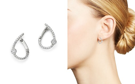 Bloomingdale's Diamond Front-to-Back Earrings in 14K White Gold, 0.20 ct. t.w. - 100% Exclusive_2