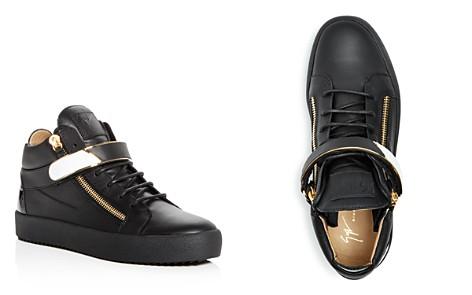 Giuseppe Zanotti Men's Leather Mid Top Sneakers - Bloomingdale's_2