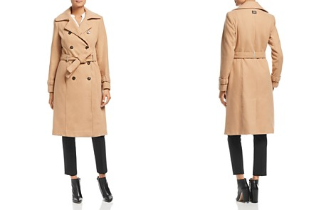Calvin Klein Double-Breasted Front Belted Coat - Bloomingdale's_2