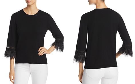 Kobi Halperin Toni Faux-Feather Cuff Sweater - Bloomingdale's_2