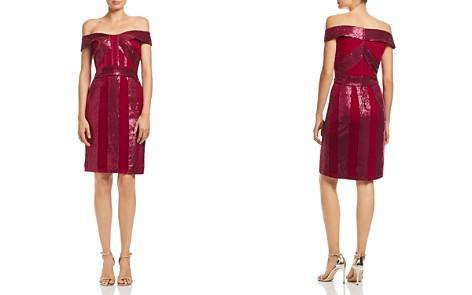 Tadashi Petites Off-the-Shoulder Sequin & Velvet Dress - Bloomingdale's_2