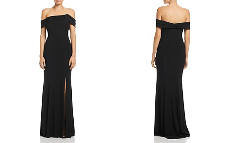 AQUA Asymmetric Off-the-Shoulder Gown - 100% Exclusive - Bloomingdale's_2