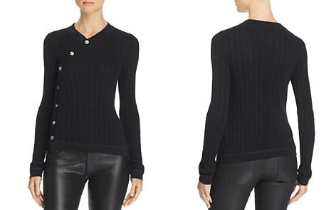 T by Alexander Wang Deconstructed Ribbed Cardigan - Bloomingdale's_2