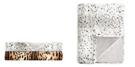 Hudson Park Collection Faux-Fur Animal Throw - 100% Exclusive - Bloomingdale's_2