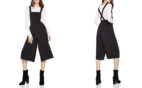 BCBGeneration Cropped Wide-Leg Overalls - Bloomingdale's_2