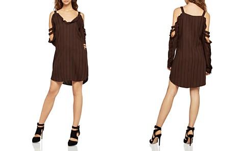 BCBGeneration Ruffled Cold-Shoulder Striped Dress - Bloomingdale's_2