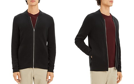 Theory Lievos Textured Zip Cardigan - Bloomingdale's_2