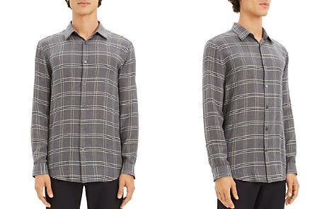 Theory Tait Lightweight Plaid Regular Fit Shirt - 100% Exclusive - Bloomingdale's_2