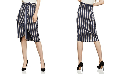BCBGMAXAZRIA Striped Asymmetric Skirt - Bloomingdale's_2