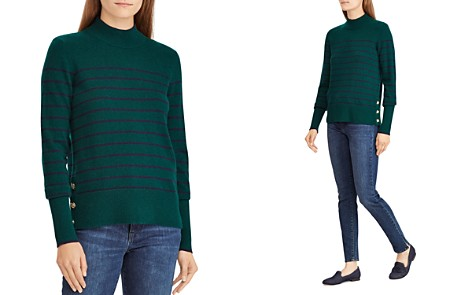 Lauren Ralph Lauren Striped Cashmere Mock Neck Sweater - 100% Exclusive - Bloomingdale's_2