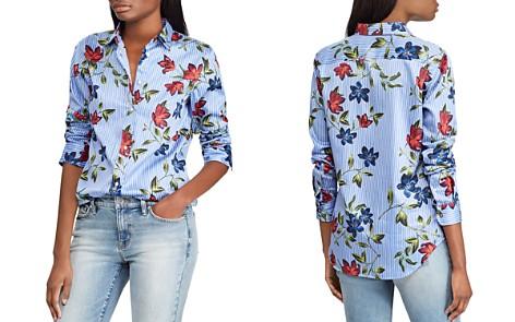 Lauren Ralph Lauren Pinstripe Floral Button-Down Top - Bloomingdale's_2