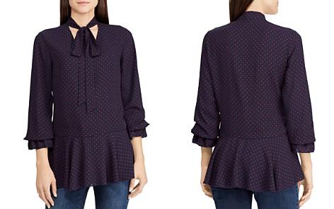Lauren Ralph Lauren Dotted Tie-Neck Top - Bloomingdale's_2