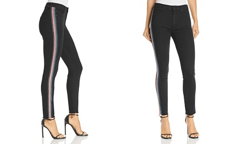 MOTHER High-Rise Cropped Skinny Jeans in Guilty Glitter Racer - Bloomingdale's_2