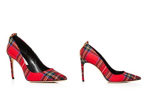 Brian Atwood Women's Voyage Pointed Toe Plaid High-Heel Pumps - Bloomingdale's_2