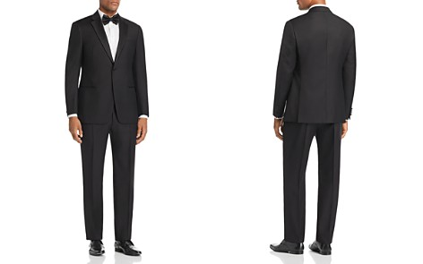 Emporio Armani Black Regular Fit Notched-Lapel Tuxedo - Bloomingdale's_2