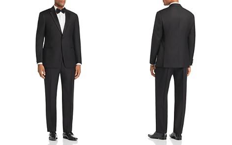 Emporio Armani Black Regular Fit Notched-Lapel Tuxedo - Bloomingdale's_2