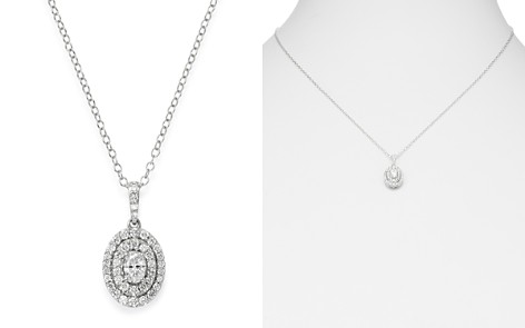 Bloomingdale's Diamond Oval Pendant Necklace in 14K White Gold, 0.50 ct. t.w. _2