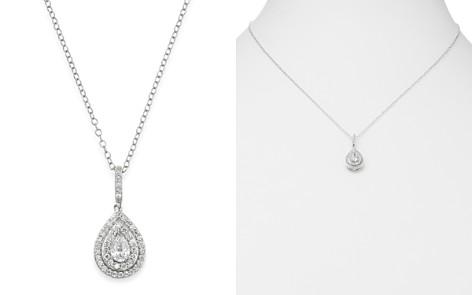 Bloomingdale's Diamond Teardrop Halo Pendant Necklace in 14K White Gold, 0.50 ct. t.w. _2
