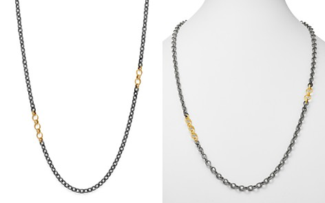 """Armenta 18K Yellow Gold & Blackened Sterling Silver Old World Adjustable Link Necklace, 32"""" - Bloomingdale's_2"""