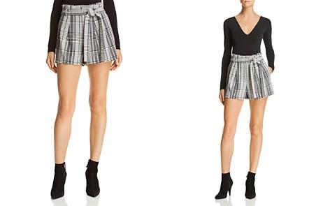 Alice + Olivia Laurine Plaid Shorts - Bloomingdale's_2
