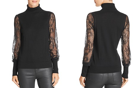 Equipment Sid Lace-Sleeve Turtleneck Top - Bloomingdale's_2
