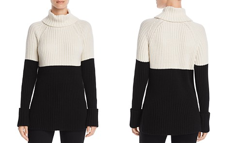 AQUA Color-Block Turtleneck Sweater - 100% Exclusive - Bloomingdale's_2