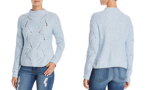 AQUA Pointelle Eyelash Sweater - 100% Exclusive - Bloomingdale's_2