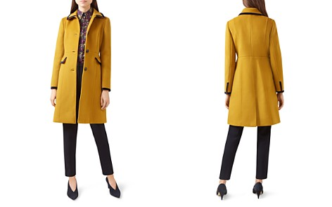 HOBBS LONDON Celia Velvet-Trim Coat - 100% Exclusive - Bloomingdale's_2
