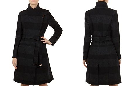 Ted Baker Narrla Striped Wrap Coat - Bloomingdale's_2
