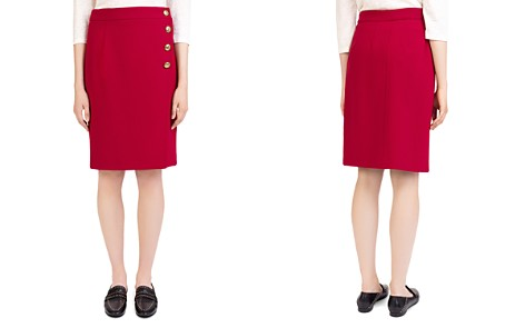 Gerard Darel Justin Asymmetric-Button Skirt - Bloomingdale's_2